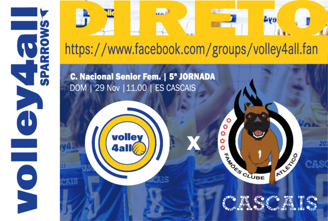 LIVE   Volley4all vs Famões CA